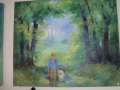 Gemälde: Mann mit Hund
