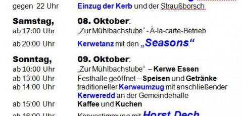 Breunischwiller Kerb – am 2. Wochenende im Oktober ( 07.-11.10.2016)