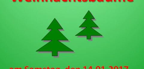 F.d.Feuerwehr Breunigweiler: Einsammeln der Weihnachtsbäume – Samstag, 14.01.2017